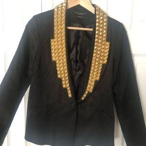 Akira Studded Black Blazer Jacket Size S